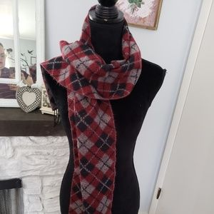 Softer than Cashmere black and red plaid scarf